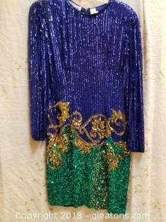 Sequin Cocktail Dress Niteline By Della Roufogali Size 10