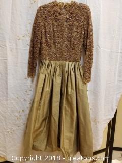 Beaded + Silk Evening Gown