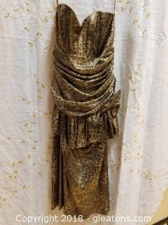 Vintage Strapless Dress Patra Size 10