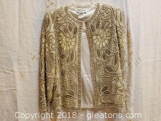 Pearl + Beaded Evening Jacket Nipon Night Size PM