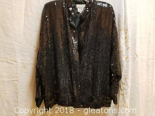 Black Evening Jacket Candlelight By Jainson's International Size L