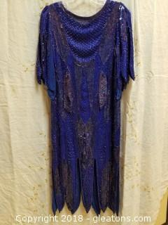 Heavy Beaded Evening Gown Shomax Size 6