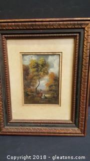 Vintage Italian Landscape Oil Painting Signed