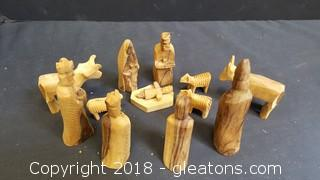 Hand Carved Nativity Scene From Jerusalem