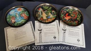 Set Of (3) Collectible Italian Plates By Bradford Exchange