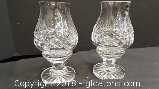 Set Of (2) Waterford Crystal Candle Holders
