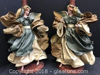 DR Of Handmade Angel Candle Holders