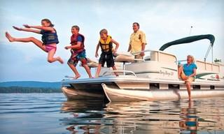 Paradise Rental Boats Gift Certificate for a Half Day 20' Party Barge Rental