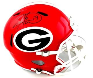 Hines Ward Signed Georgia Bulldogs Speed Full Size NCAA Helmet
