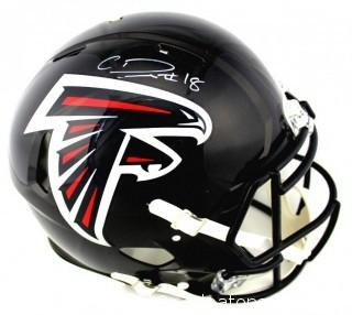 Calvin Ridley Signed Atlanta Falcons Authentic Full Size Speed Helmet