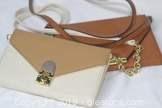 2 Leather Cross-body Bags Steve Madden New