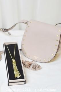 Victoria's Secret Collectors Cross-body Bag & Necklace