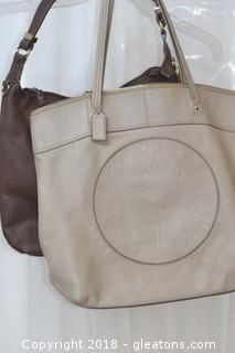 "COACH LEATHER ""LAURA"" TOTE BAG"