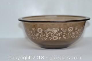 Pyrex Brown Glass Bowl