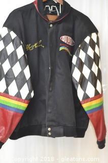 Nascar Jeff Gordon Dupont Racing Leather Jacket