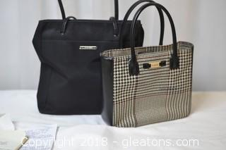Ralph Lauren Houndstooth Tote  and Nine West Tote