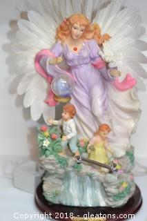 LARGE LIGHT UP ANGEL STATUE