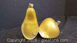 Set Of Murano Glass Fruit