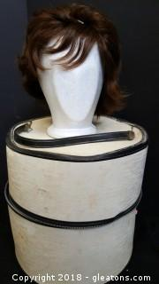 Vintage Ladies Wig With Wig Box
