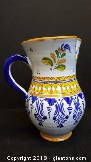 Italian Made In Italy Painted Pitcher