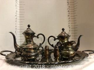 Sterling Tea Service Eugen Ferner 1962 and Towle