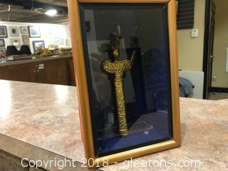 Dagger In A Shadow Box Frame