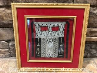 Beautifully Beaded Mask Framed