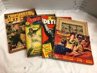 Collection Of 5 1940's Sci Fi Magazines