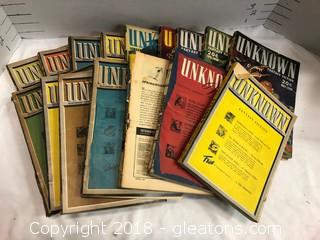 1940 And 1940's Fantasy And Science Fiction Magazines, Lot Of 16