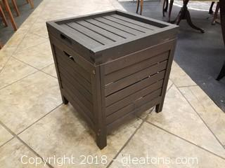 Outdoor Wooden Storage Side Table (A)