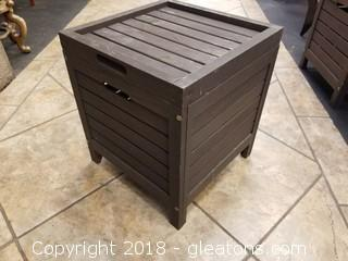Outdoor Wooden Storage Side Table (B)
