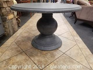 Stone Like Outdoor Pedestal Table