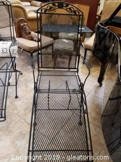 Wrought Iron Lounge Chair (A)
