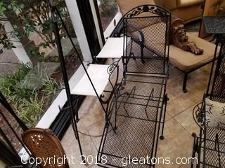 Wrought Iron Lounge Chair (B)