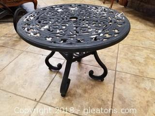 Black Wrought Iron Small Side Table