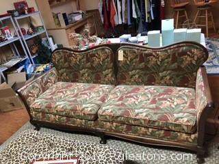 Antique Upholstered Sofa