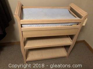 Maple Wood Baby Changing Table