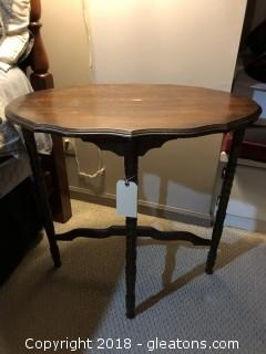 Oval 1940's side table