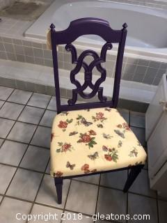 Painted Purple Side Chair