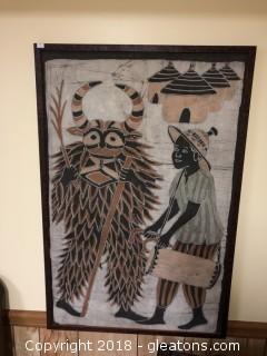 Large Framed African Textile