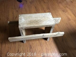 Large Old Wood Bench
