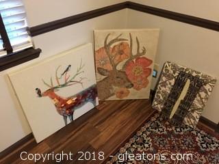 Large Texture Deer Giclee Prints