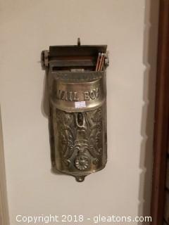 Vintage Brass Mailbox