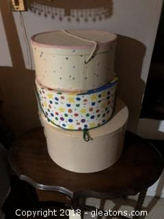 Lot of Hat Boxes