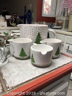 Christmas china a glass lot