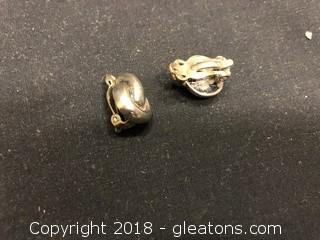 Sterling Clip - On Earrings