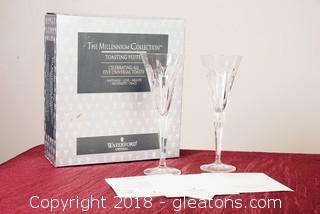 Waterford Crystal Toasting Flutes (2)