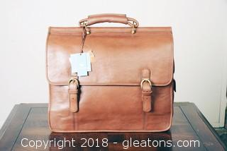 """Hidesign"" Leather Computer Briefcase"