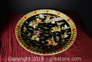 Large Famille Noire Bowl w/Stand
