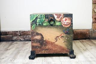 Unique Hand Painted Storage Trunk
